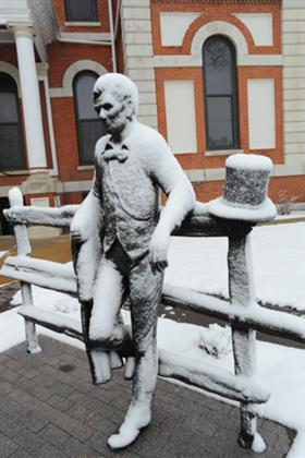 Poor Abe - Out in the cold snow